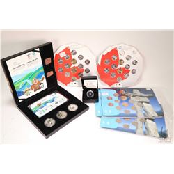 Selection of 2010 Canadian Vancouver Olympics collector coins including three Olympic and Paralympic