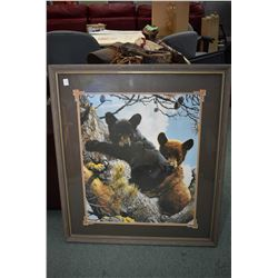 Framed print of bear cubs