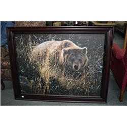 Framed print of a grizzly bear