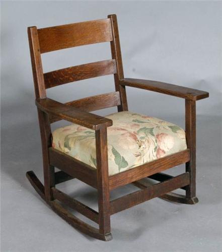 Astounding L Jg Stickley Rocking Chair Circa 191 Creativecarmelina Interior Chair Design Creativecarmelinacom