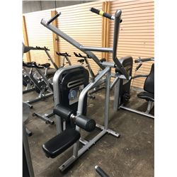 LIFE FITNESS LAT PULLDOWN MACHINE, SOME COSMETIC DAMAGE TO PLASTIC COVER