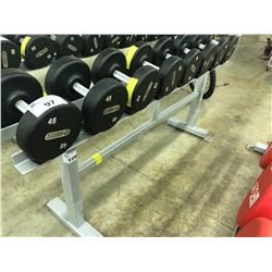 STEEL DUMBELL RACK, 8 SLOTS