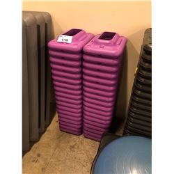 STACK OF 36 PURPLE STEP-UP RISERS