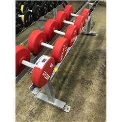 LOT OF ASSORTED UFC GYM DUMBELLS (RACK NOT INCLUDED)