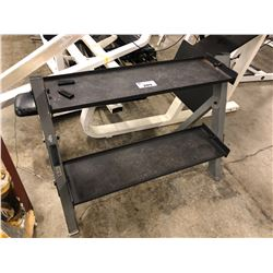 2 TIER METAL EQUIPMENT RACK