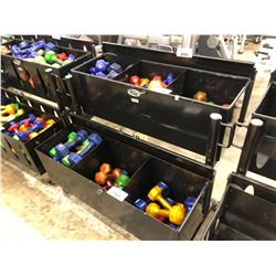 6 COMPARTMENT GYM EQUIPMENT RACK