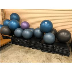 APPROX. 15 ASSORTED YOGA BALLS