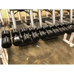 10 ASSORTED DUMBELLS
