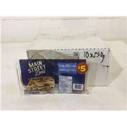 Case of Main Street Deli Smoked Black Forest Ham (10 x 250g)