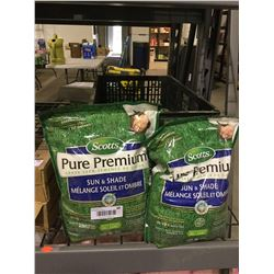Scotts Pure Premium Sun and Shade Grass Seed (1kg) Lot of 2
