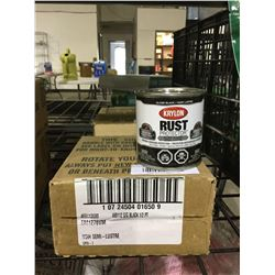 Case of Krylon Rust Protector Gloss Black Enamel (4 x 236mL)