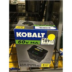 Kobalt 60V 2.0 Ah Lithium-Ion Battery