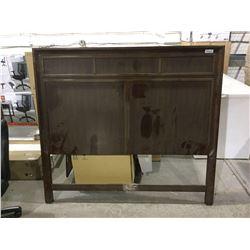 """Wooden Queen Size Headboard (64"""" W x 58"""" H) (As is)"""