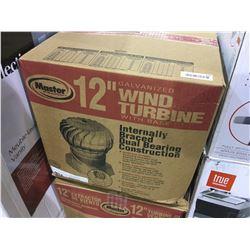 "Master 12"" Galvanized Wind Turbine w/ base"