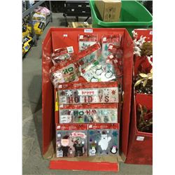 DISPLAY CASE LOT Home Accents Holiday Stand Assorted Christmas Gel Clings