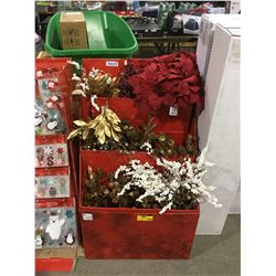 DISPLAY CASE LOT Home Accents Holiday Stand Assorted Decorative Christmas Spray