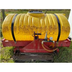1100 LITRE POLY WATER TANK W/ PRESSURE GAGE ON METAL FRAME
