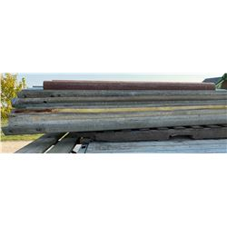 QTY OF HEAVY GRADE 12' BARRIER METAL & ROOFING SHEETS