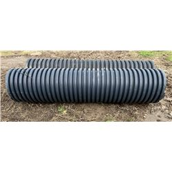 """LOT OF 2 POLY CULVERTS 18"""" X 7.5'"""