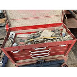 LOT OF 3 METAL TOOL BOXES W/ CONTENTS