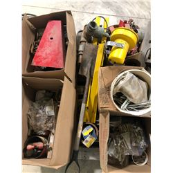 SKID LOT OF SHOP ITEMS & LG QTY OF MISC HARDWARE