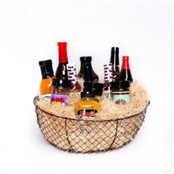 DIRECT FROM THE HEART OF LOUISIANA CAJUN FOODS-THE OUTDOORSMAN & HUNTER BASKET-