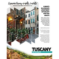 TUSCANY TRIP FOR TWO