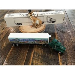 LIMITED EDITION MODEL TRUCK AND PRONGHORN ANTELOPE ORNAMENT