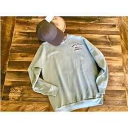 SAGE GREEN SWEATSHIRT WITH COORDINATING BERETTA TACTICAL CAP - SIZE SMALL
