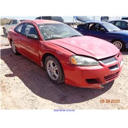 2003 - DODGE STRATUS/RESTORED SALVAGE