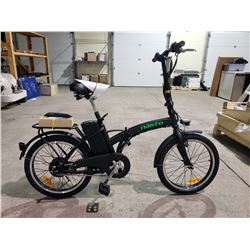 NEW NAKTO FASHION FOLDING E BIKE . PAS AND THROTTLE .360 WATT LI-ION BATTERY 36 VOLT 10 AH . 250 WAT