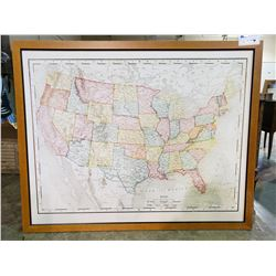 """MAP OF USA 39"""" X 48"""""""