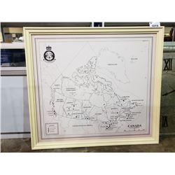 """MAP OF CANADA 46 1/2"""" X 51 1/2"""""""