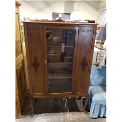 WOODEN GLASS FRONT CABINET