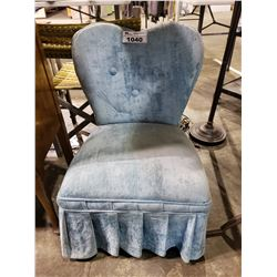 BLUE HEART BACK CHAIR