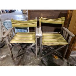 2 VINTAGE WOODEN FOLDING CHAIRS