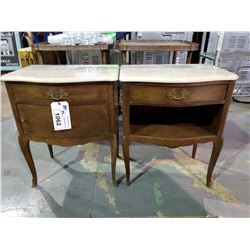 PAIR OF MARBLE TOP FRENCH NIGHTSTAND