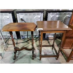 2 PARLOR TABLES