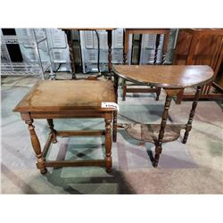 2 VINTAGE SMALL TABLES