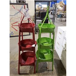 RED & GREEN BASKET STAND