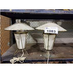 2 TABLE LAMPS & VINTAGE CALOR HEATER