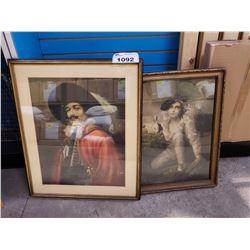 2 FRAMED WALL ART