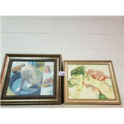 2 WALL ART PIECES