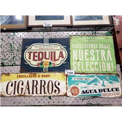 4 ASSORTED SIGNS