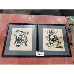 2 FRAMED ART PIECES