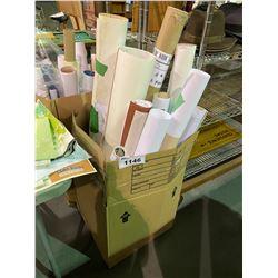 BOX OF ASSORTED SET DEC MAPS & PAPERWORK