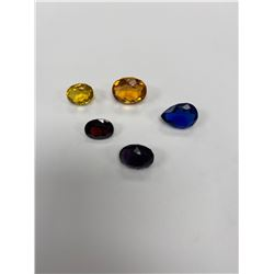CUBIC ZIRCONIA READY TO BE PLACED IN JEWELRY WITH COLORS: CEYLON SAPPHIRE 21.35CT, BLUE SAPPHIRE
