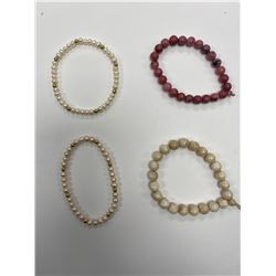ASSORTED PEARL AND STONE NECKLACES