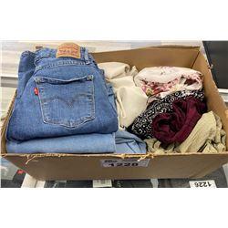 BOX OF DESIGNER WOMENS CLOTHING