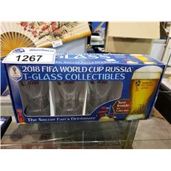 2019 FIFA WORLD CUP RUSSIA T-GLASS COLLECTIBLES OFFICIAL LICENSED PRODUCT
